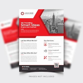 Panfleto comercial moderno