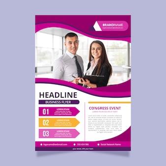Panfleto comercial profissional com foto