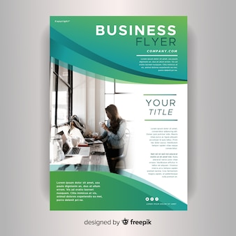 Panfleto comercial profissional de modelo