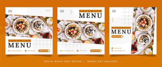 Panfleto culinário minimalista ou banner de mídia social
