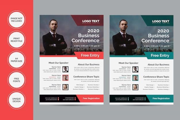 Panfleto da conferência