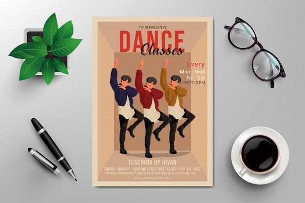 Panfleto de aulas de dança