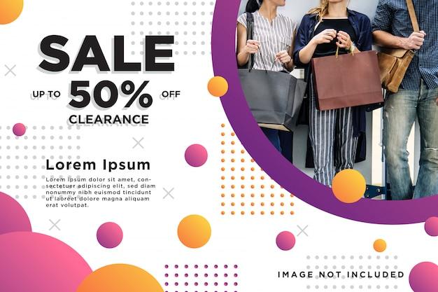 Panfleto de banner de venda