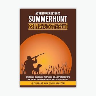 Panfleto de caça
