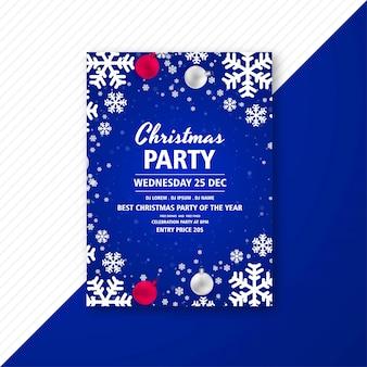 Panfleto de comemoração linda festa de natal