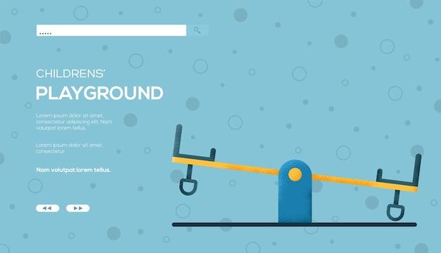 Panfleto de conceito de balanço, banner da web, cabeçalho da interface do usuário, insira o site. .