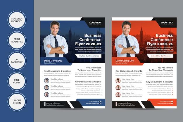 Panfleto de conferência