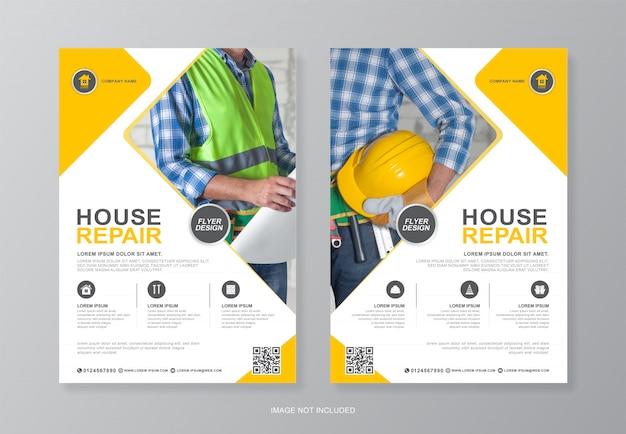 Panfleto de construção corporativa