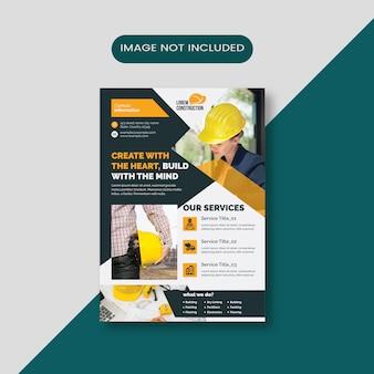 Panfleto de construção criativa