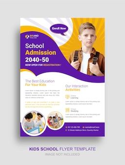 Panfleto de educação infantil