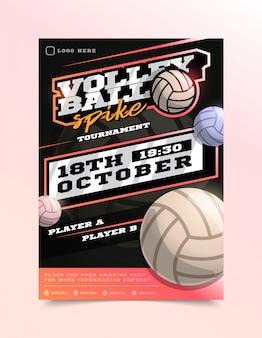 Panfleto de esporte de voleibol