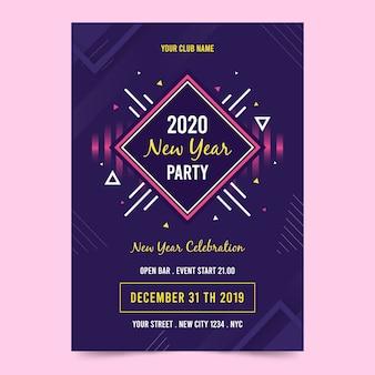 Panfleto de festa abstrata ano novo modelo