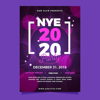 Panfleto de festa abstrata de ano novo modelo