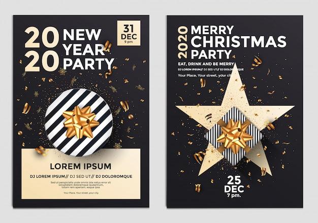 Panfleto de festa de ano novo