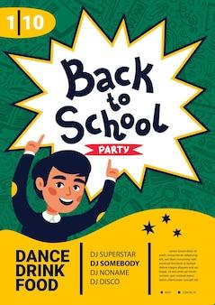 Panfleto de festa de dança escolar