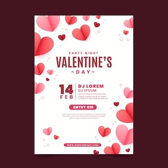 Panfleto de festa de dia dos namorados