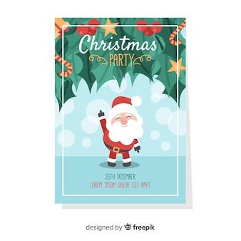 Panfleto de festa de natal / cartaz