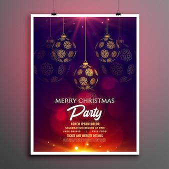 Panfleto de festa de natal ou modelo de cartaz