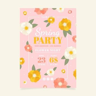 Panfleto de festa de primavera desenhado à mão