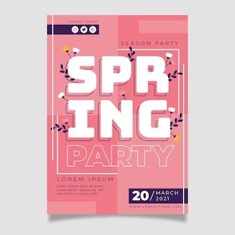 Panfleto de festa de primavera
