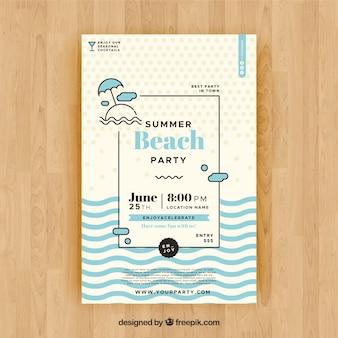 Panfleto de festa de verão para comemorar a temporada