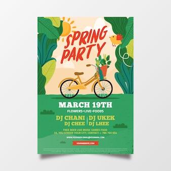 Panfleto de festa linda primavera abstrata