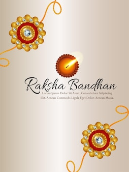 Panfleto de festa raksha bandhan com rakhi criativo