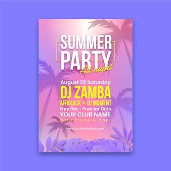 Panfleto de festa realista de verão