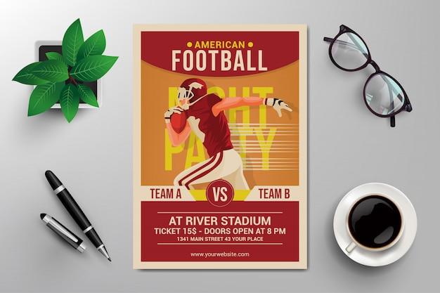 Panfleto de futebol americano