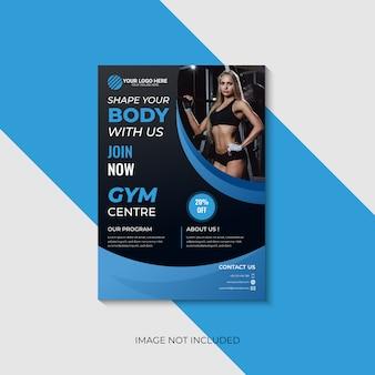 Panfleto de ginásio de fitness moderno.