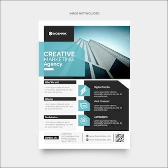 Panfleto de marketing corporativo de negócios coloridos