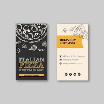 Panfleto de modelo de restaurante italiano