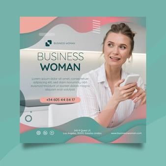 Panfleto de mulher de negócios