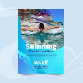 Panfleto de natação vertical