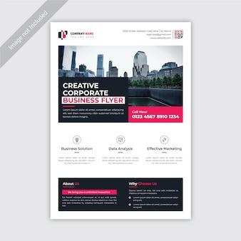 Panfleto de negócios corporativos criativo moderno