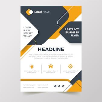 Panfleto de negócios de design plano desenhado à mão