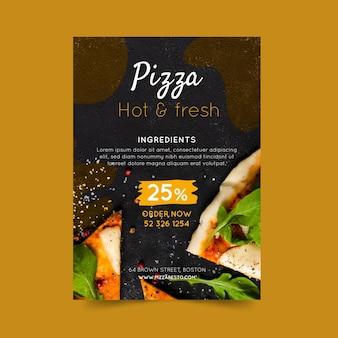 Panfleto de pizza restaurante vertical