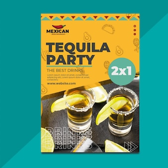 Panfleto de restaurante mexicano vertical