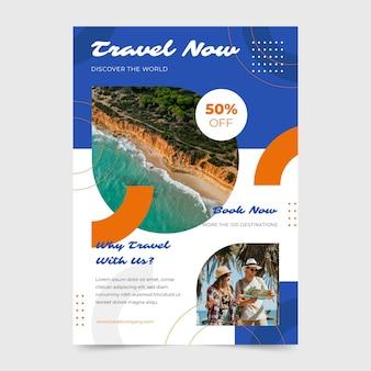 Panfleto de venda de viagens com foto)