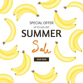 Panfleto de verão banana