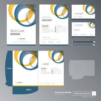 Panfleto folheto negócios anual relatório capa modelo pasta apresentação promoção
