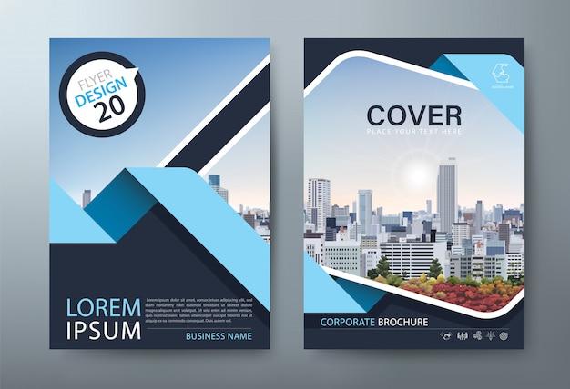 Panfleto, modelos de capa de livro, layout em tamanho a4.