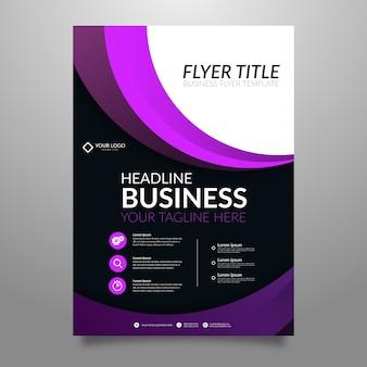 Panfleto para estilo abstrato de negócios