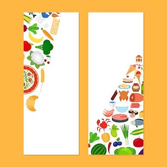 Panfletos verticais vith food