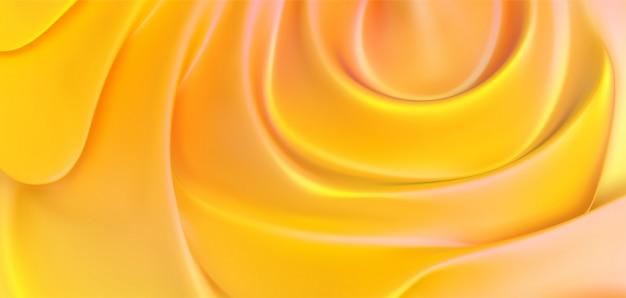 Pano de fundo amarelo suave. abstrato colorido. ilustração 3d textura dinâmica fluida. modelo de capa minimalista.