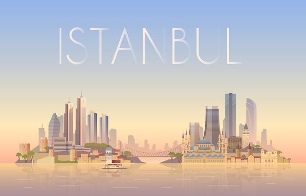 Pano de fundo da paisagem urbana de istambul