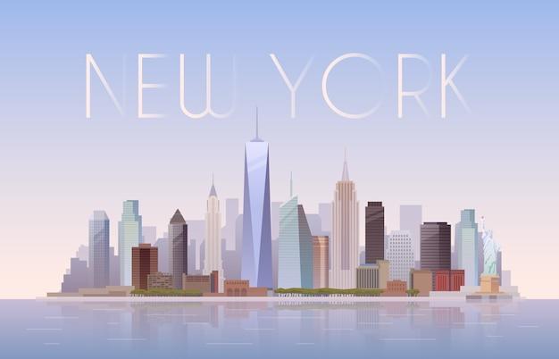 Pano de fundo da paisagem urbana de nova york