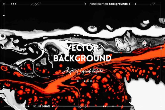 Pano de fundo de textura de arte fluida com efeito de tinta espiralada abstrata arte acrílica líquida que flui e ...