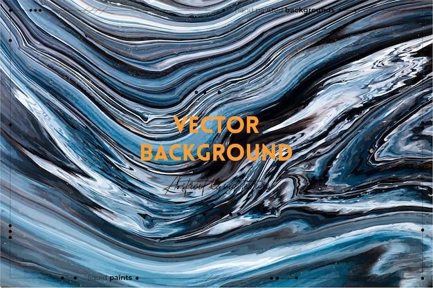 Pano de fundo de textura de arte fluida com efeito de tinta redemoinho abstrato imagem acrílica líquida com mi ...