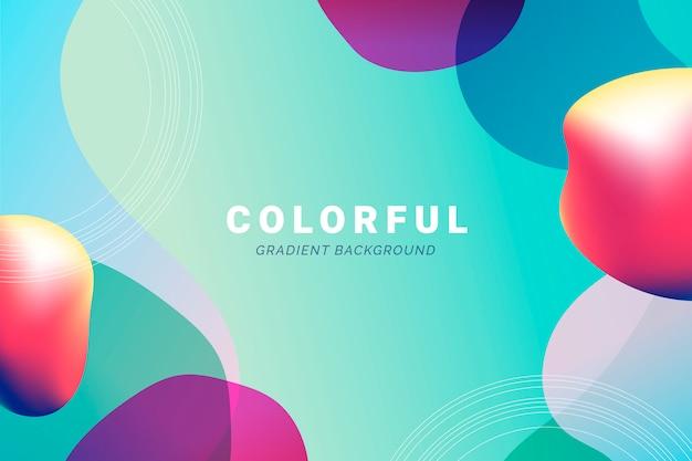 Pano de fundo gradiente colorido